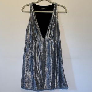 Express Silver Mini Party Dress Small